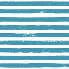 Blue and white ink striped seamless pattern texture background