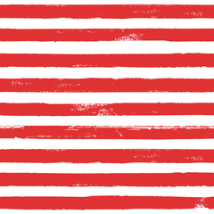 Red and white ink striped seamless pattern texture background