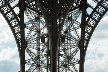 Eiffelturm, Detailaufnahme, Paris, Frankreich, Europa