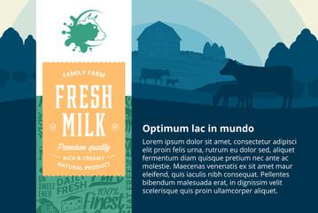 Vector milk illustration