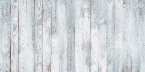 Vintage Old Shabby White Blue Wood Wall Background