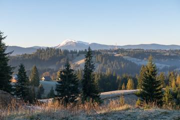 idyllic view of the Carpathian mountains