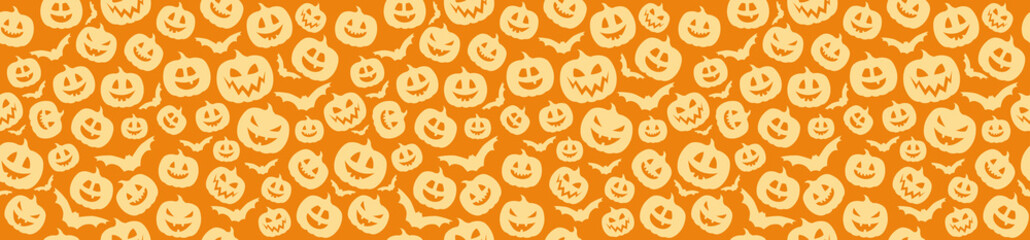 Texture with pumpkins - Halloween concept. Vector.