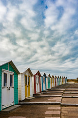 Line of beach huts