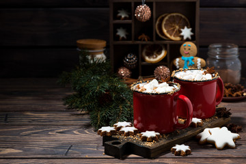 cozy winter drink hot chocolate