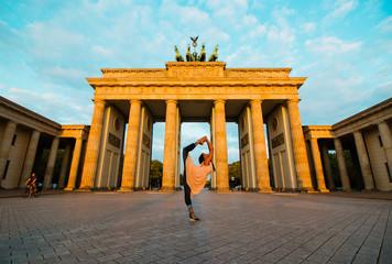 Aluminium Prints Berlin Berlin, Germany - 06.09.2018. Famous Brandenburger Gate