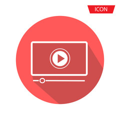 button play video on Desktop icon isolated on background.