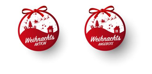 Weihnachten, Weihnachtsangebot, Aktion Button