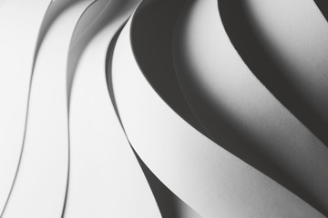 Geometric composition with curved elements, abstract background