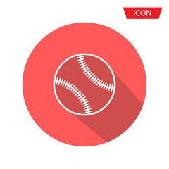 Baseballs icon vector , outline baseballs icon vector isolated on background.