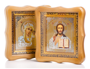 Icons faith bible on white background isolation