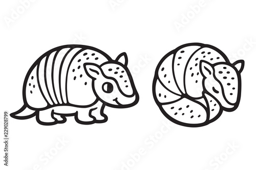 Cute Cartoon Armadillo Stock Image And Royalty Free Vector Files On