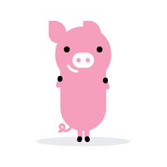 cute funny pic icon. vector