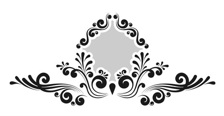 Vintage decorative calligraphic border