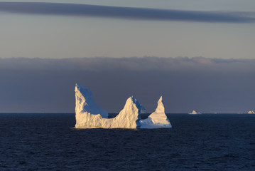Antarctic seascape with iceberg