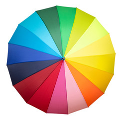 multicolored umbrella isolated