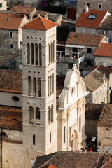 Cathedral of Saint Stephen, a Roman Catholic cathedral in the town of Hvar, on island of Hvar in Split-Dalmatia County, Croatia
