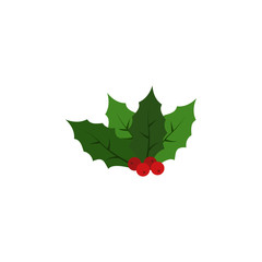 Kissing bough color icon. Element of Christmas and New Year illustration. Premium quality graphic design color icon. Signs and symbols multicolor icon for websites, mobile app