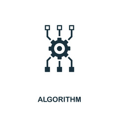 Algorithm icon. Premium style design from artificial intelligence icon collection. UI and UX. Pixel perfect algorithm icon. For web design, apps, software, print usage.