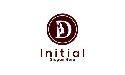 Abstract letter A logo, Beauty salon vector logo template