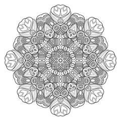 Monochrome Beautiful Decorative Ornate Mandala