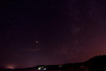 The Milky Way Galaxy one summer night.