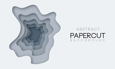 Abstract shapes in different grey colors. Background for banner, presentations, flyers, posters.
