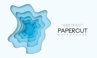 3D modern background with papercut shape.Template for business, presentations.