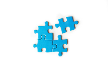 connecting piece jigsaw puzzle, Business connection, success and strategy concept, education, society and teamwork