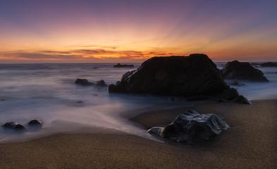 Sunset over Moonstone Beach