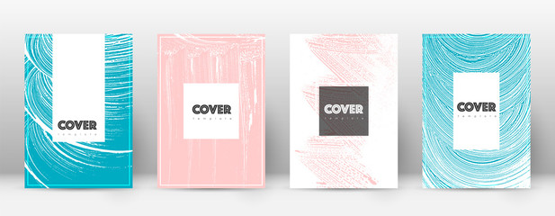 Cover page design template. Hipster brochure layou