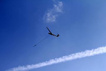 Windenstart des Segelfliegers