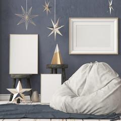 Christmas lag-style interior