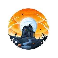 Horror Haus - heller Hintergrund