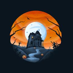Horror Haus - dunkler Hintergrund