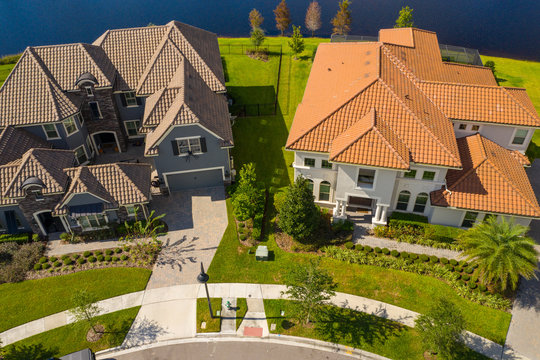 Aerial photo luxury homes Orlando Florida