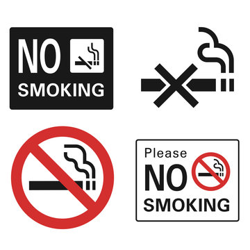 No smoking icon set. Simple set of no smoking vector icons for web design on white background