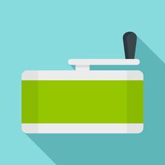 Marijuana grinder icon. Flat illustration of marijuana grinder vector icon for web design