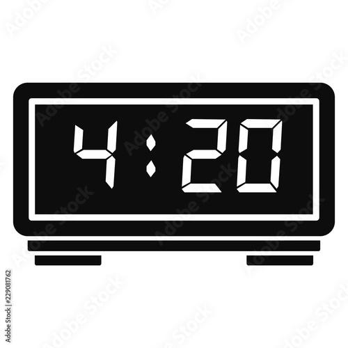 Digital alarm clock icon  Simple illustration of digital