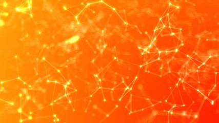 Abstract Orange Plexus Background Floating Structures