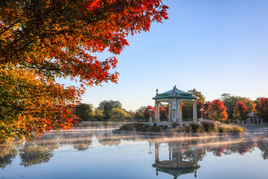 The bandstand located in Forest Park, St. Louis, Missouri.