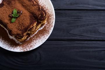Foto auf Acrylglas Desserts Homemade tiramisu cake
