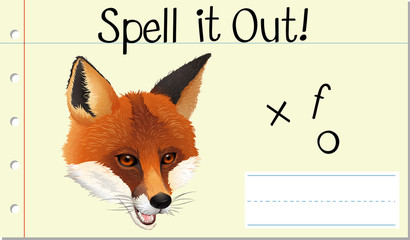 Spell English word fox