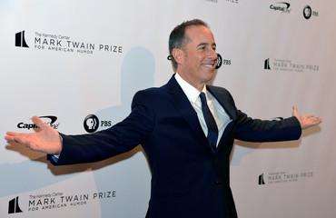 Jerry Seinfeld attends Kennedy Center's Mark Twain Prize in Washington