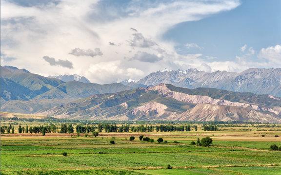 View from Burana Tower close to Bishkek, Kyrgyzstan, taken in August 2018