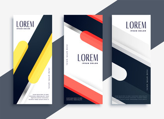 modern abstract set of geometric banners