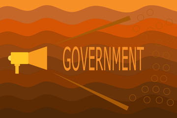 Text sign showing Government. Conceptual photo Group of showing with authority to govern country state company.