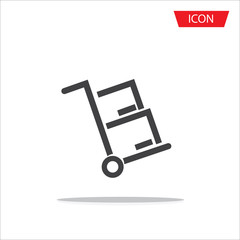 handcart icon vector for web site and application on white background.