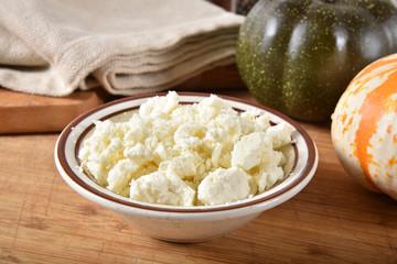 Bowl of feta cheese