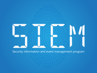 SIEM Security information and event management program